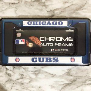 Chicago Cubs Chrome License Plate NEW